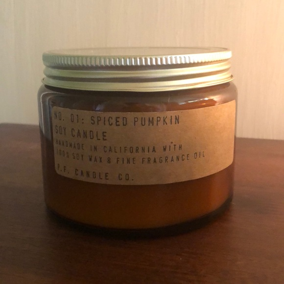 P.F. Candle Other - P.F. large Spiced Pumpkin Candle soy wax